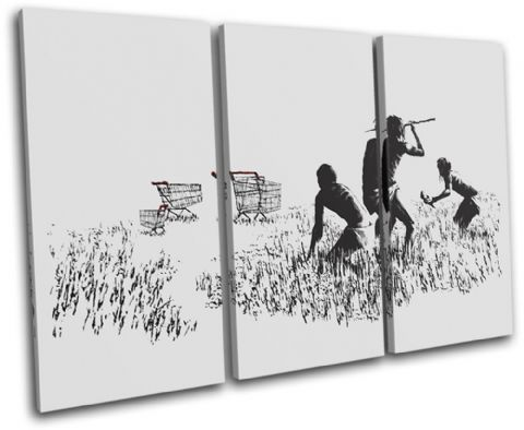 Trolley Hunters Banksy Painting - 13-0946(00B)-TR32-LO